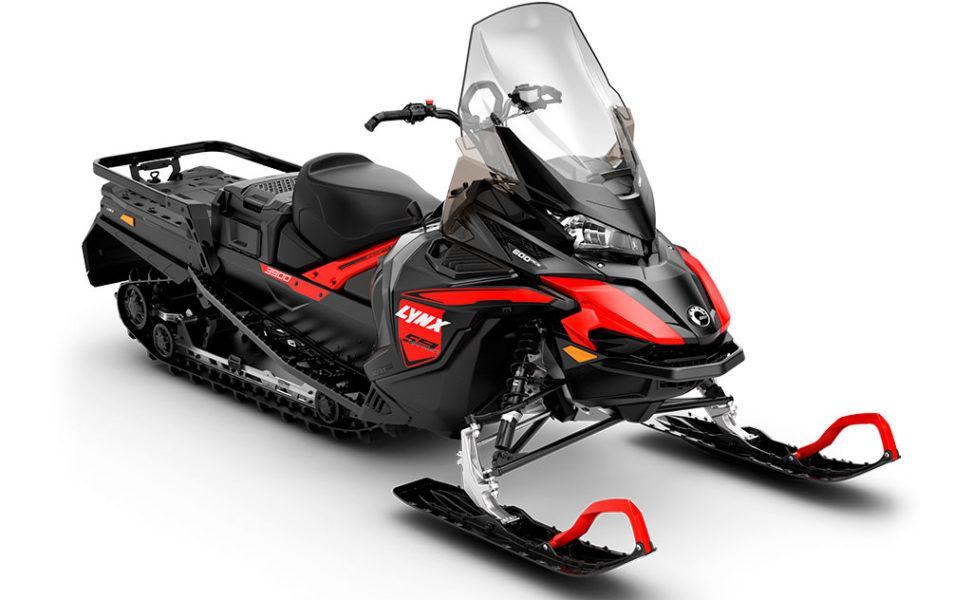 Moottorikelkka Lynx Ranger 59 ACE, vuosimalli 2021, väri Viper Red ja Black