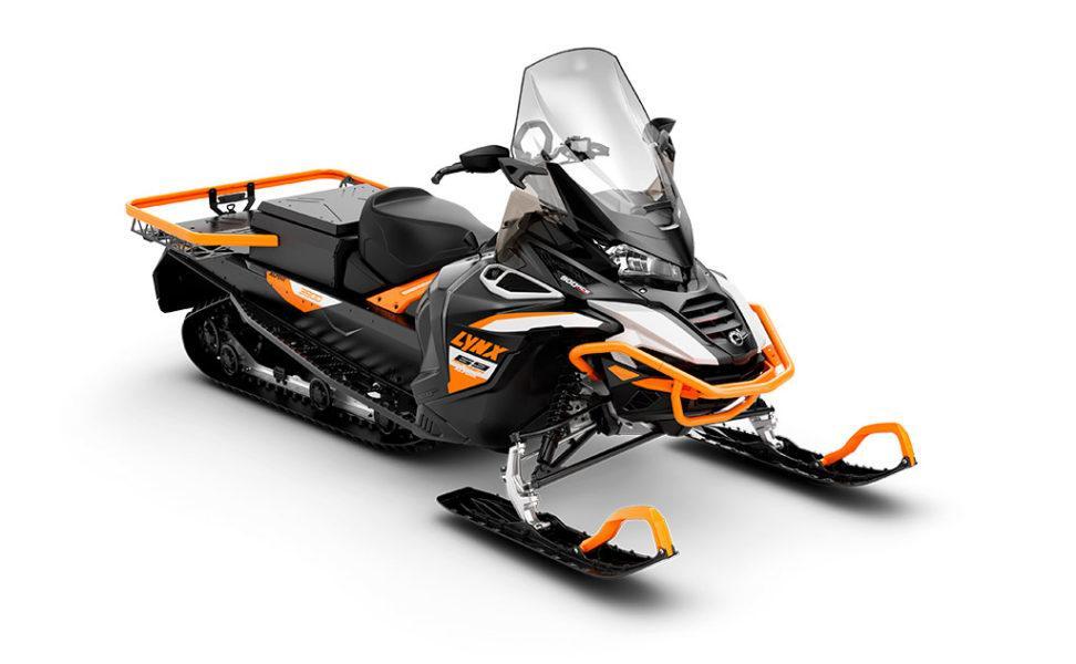 Moottorikelkka erittäin vaativaan työkäyttöön Lynx Ranger Alpine 69, vuosimalli 2021, väri White, Orange, Black