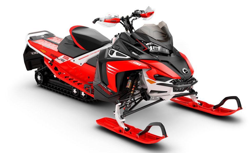 Lynx Rave Re vuosimalli 2021, väri Viper Red, Black, White