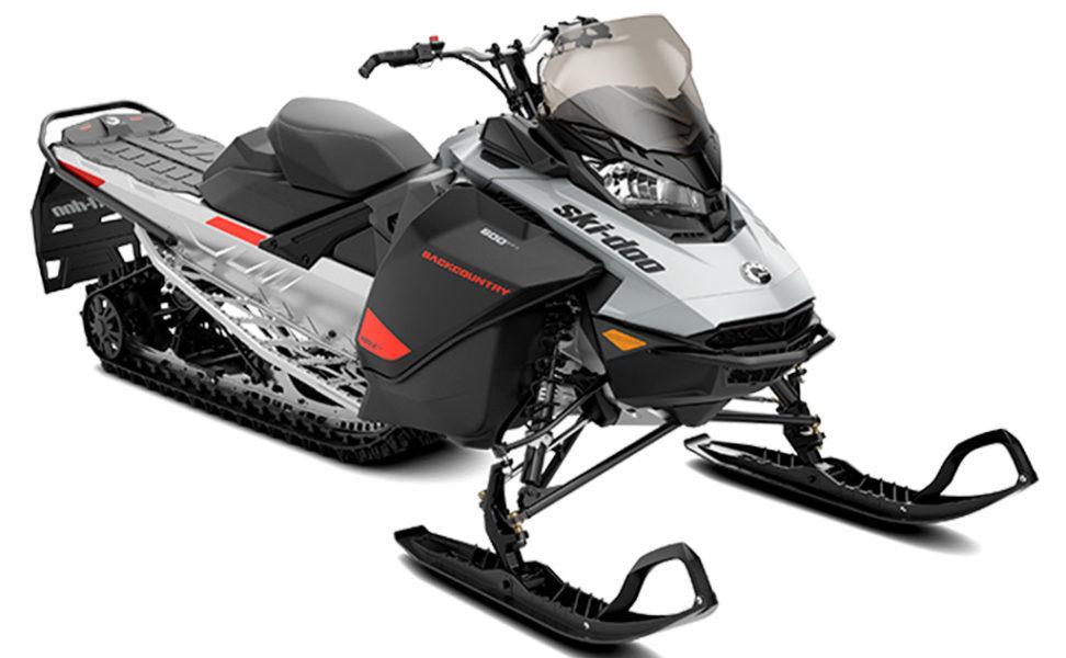 Ski-Doo Backcountry Sport 600 EFI vuosimalli 2021, väri Catalyst Grey / Catalyst Grey / Full Moon