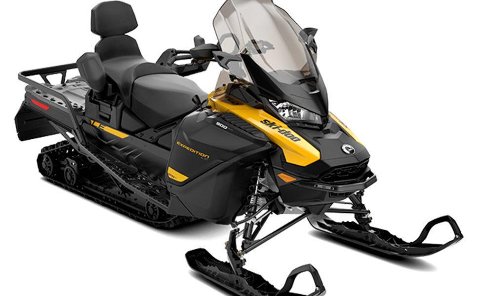 Monipuolinen kelkka Ski-Doo Expedition Le vuosimalli 2021, väri Neo Yellow ja Black
