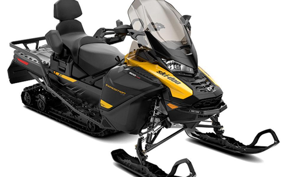 Monipuolinen turbo kelkka Ski-Doo Expedition vuosimalli 2021, väri Neo Yellow j aBlack