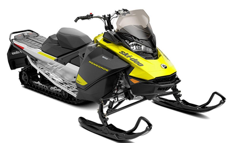 Ski-Doo Renegade Sport 600 ACE, vuosimalli 2021, väri Sunburst Yellow, Black, Full Moon