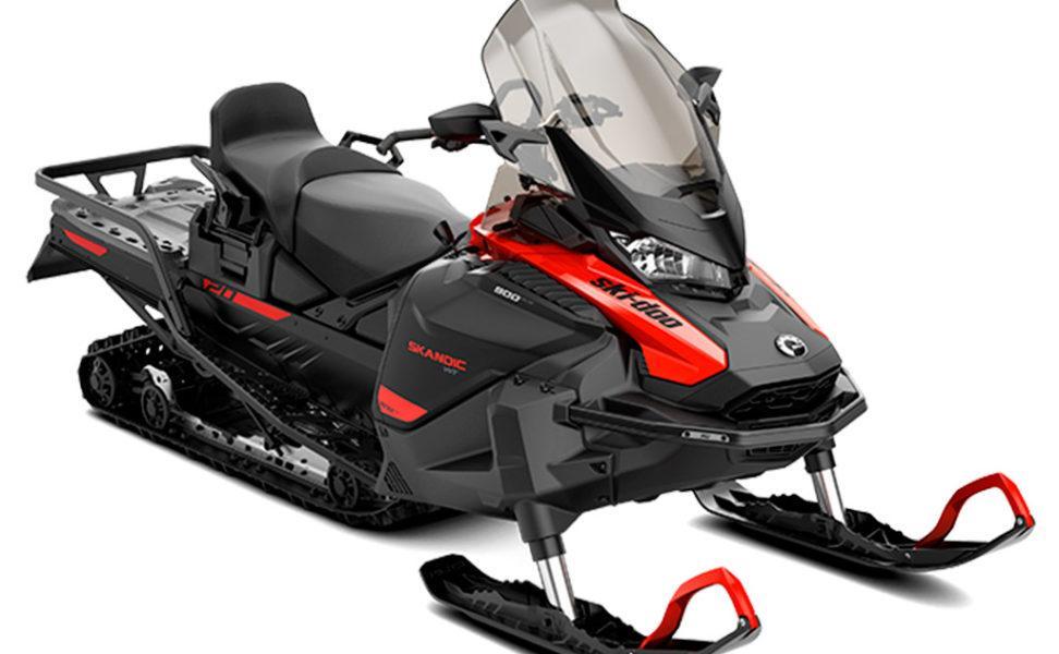 Työkelkka Ski-Doo Skandic WT vuosimalli 2021, väri Can-Am Red ja Black