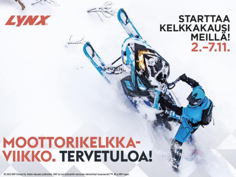 moottorikelkkaviikko 2.-7.11.2020 Oulussa, Ylivieskassa ja Raahessa